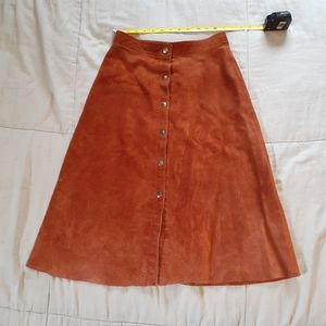 Cooper tan suede leather skirt